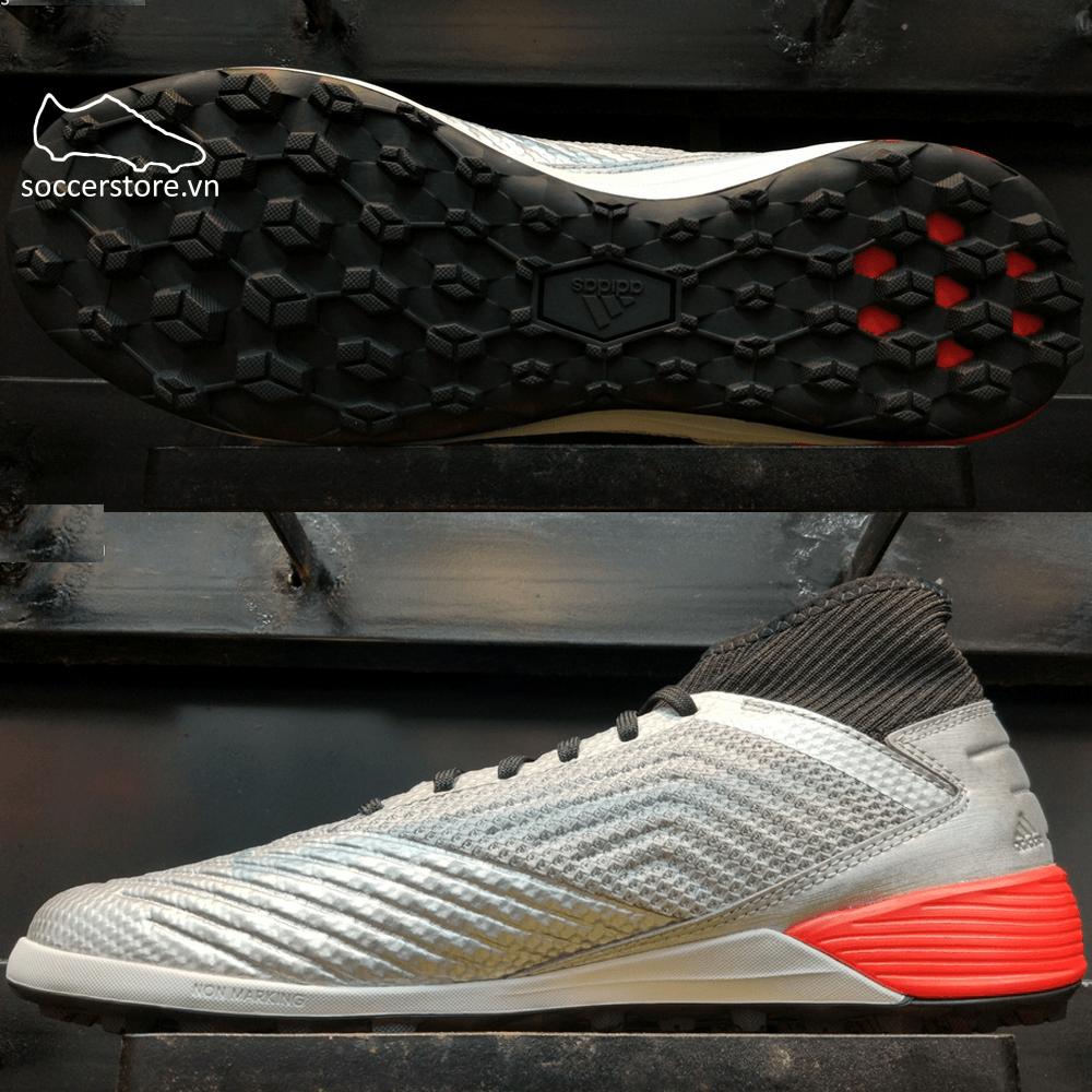 Adidas Predator 19.3 TF- Silver Metallic/ Core Black/ Red F35629