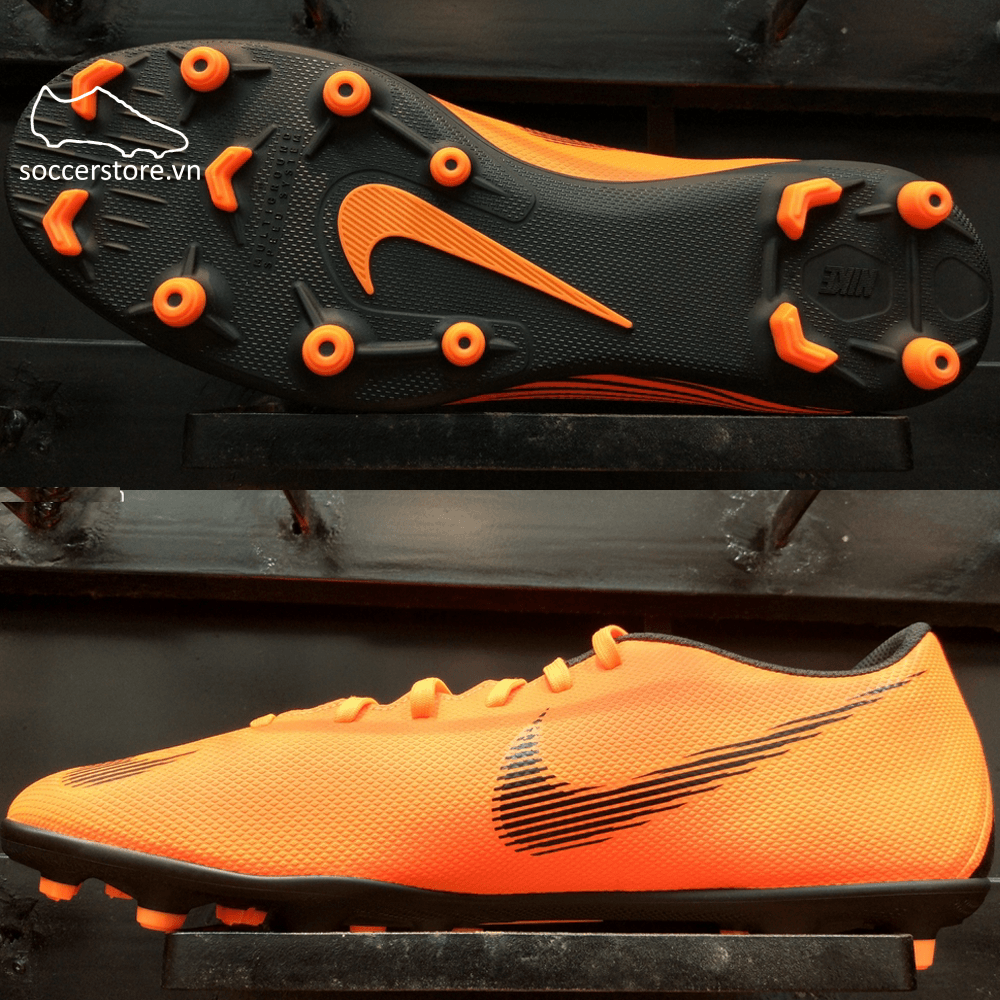 Nike Mercurial Vapor Fury XII Club FG/MG- Total Orange/ Black/ Volt AH7378-810