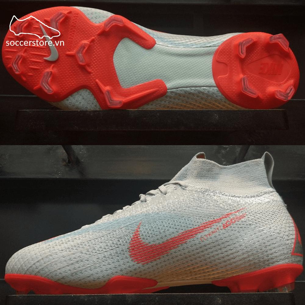 Nike Mercurial Superfly VI Elite Kids FG- Wolf Grey/ Light Crimson/ Pure Platinum AH7340-060