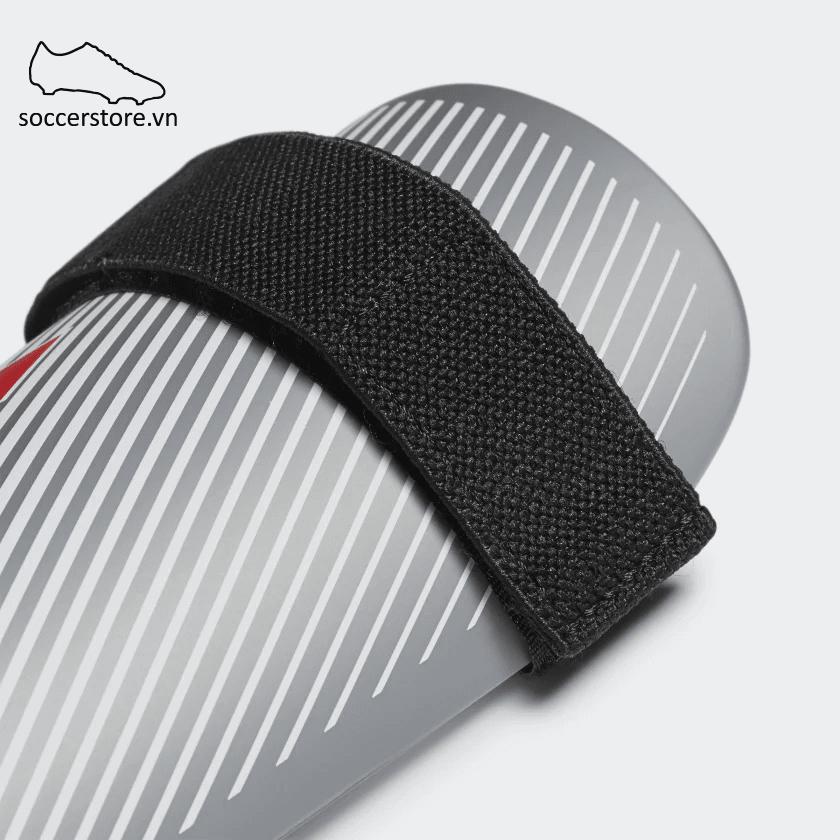 Lót ống đồng Adidas X Lite Shin Guards - Silver/ Black DY2576