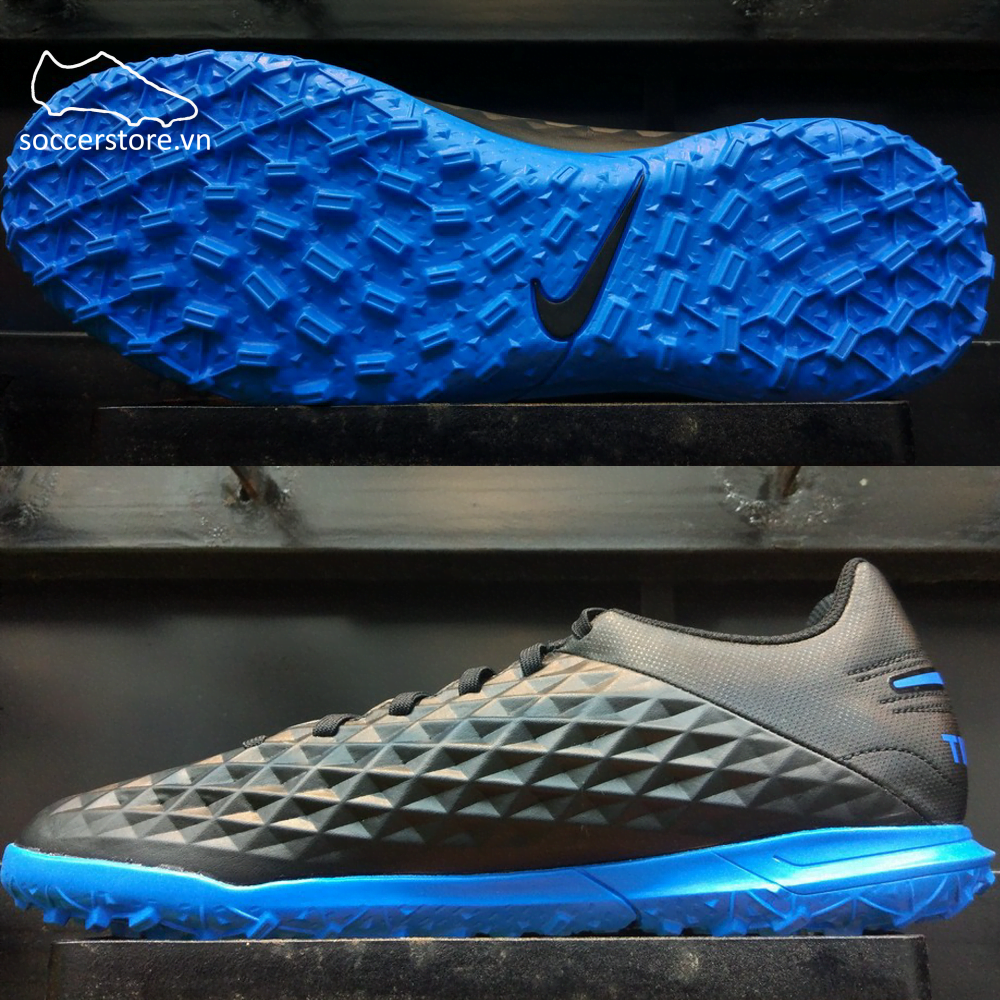 Nike Tiempo Legend VIII Club TF - Black/ Blue Hero AT6109-004