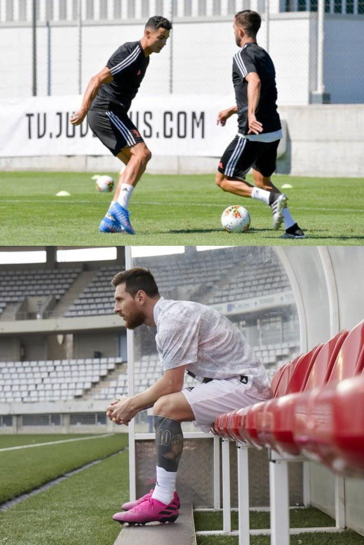 Ronaldo & Messi cùng đeo giày mới trước mùa giải
