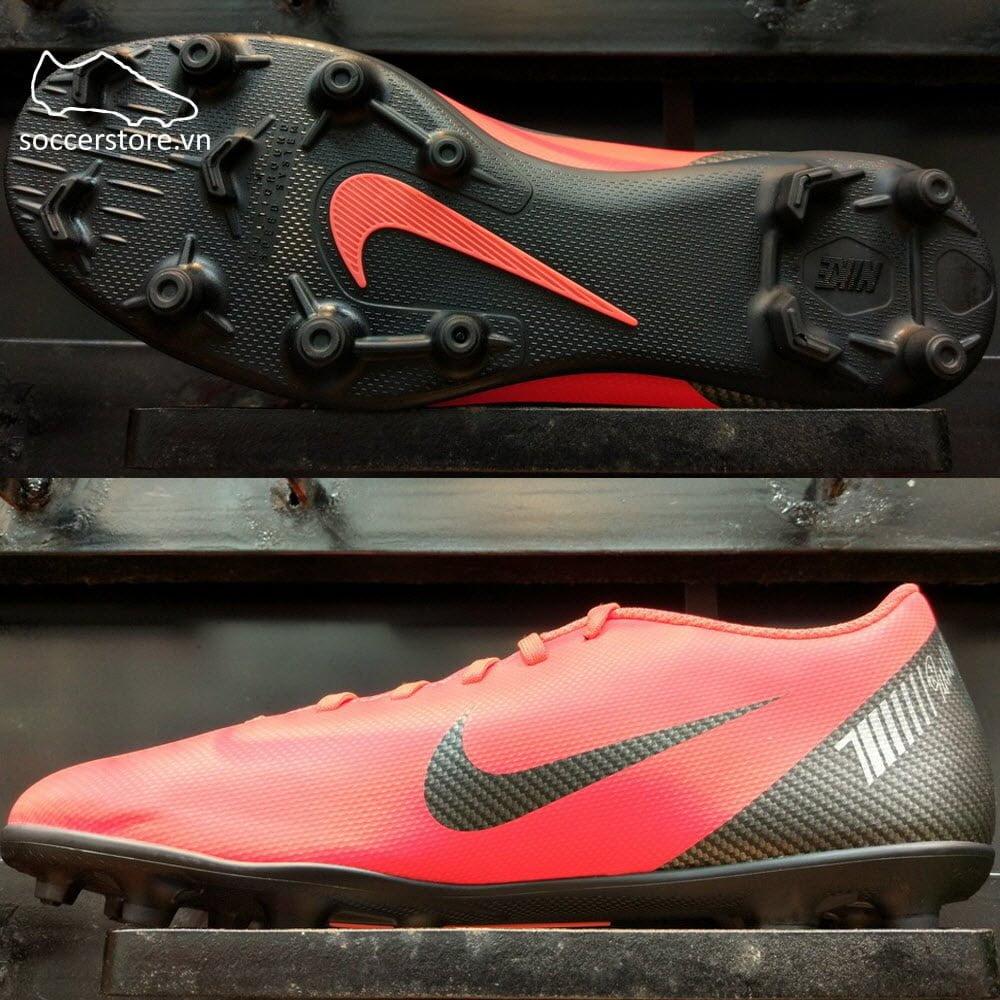 Nike Mercurial Vapor XII Club CR7 FG/MG- Bright Crimson/ Black/ Chrome AJ3723-600