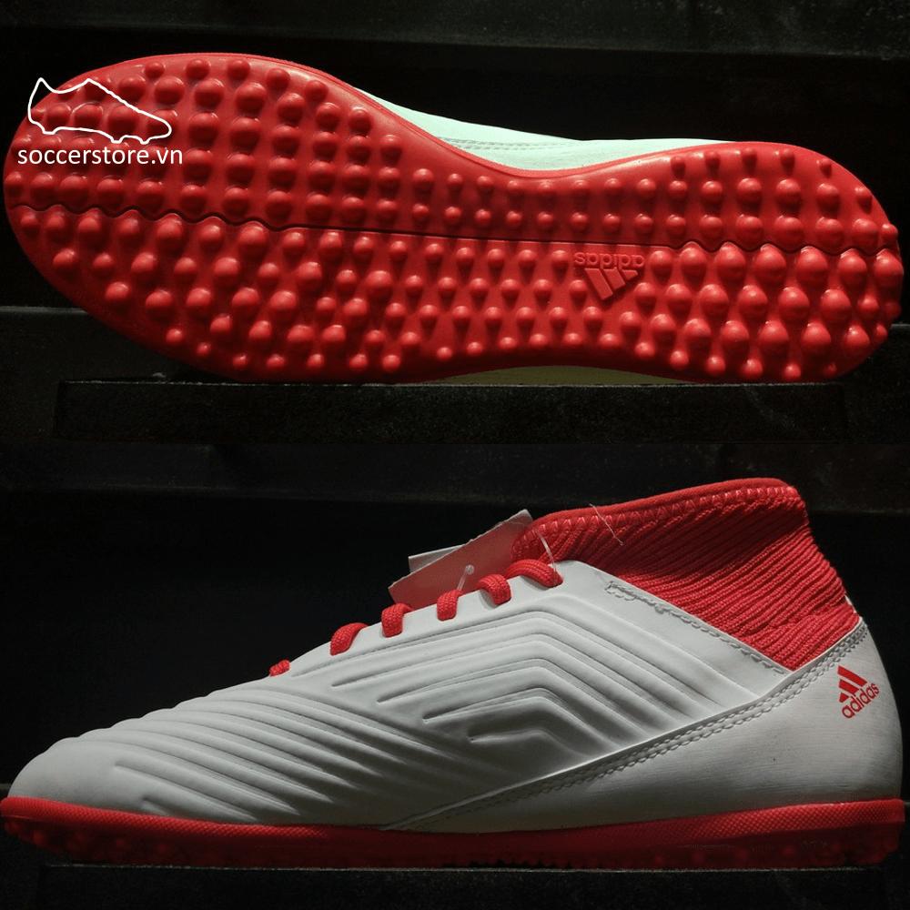 Adidas Predator Tango 18.3 Kids TF- White/ Core Black/ Real Coral CP9040