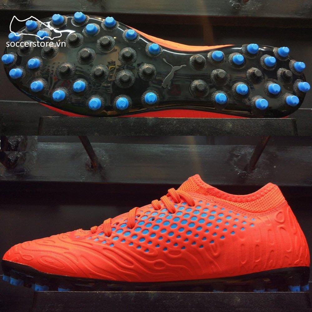 Puma Future 19.4 MG- Red Blast/ Bleu Azur 105547-01