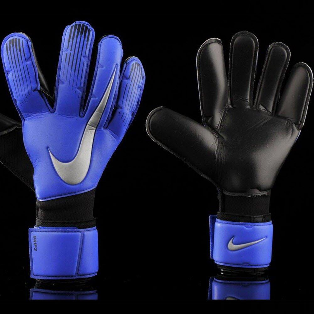 Nike Grip 3- Racer Blue/ Black/ Metallic Silver GK Gloves GS0360-410