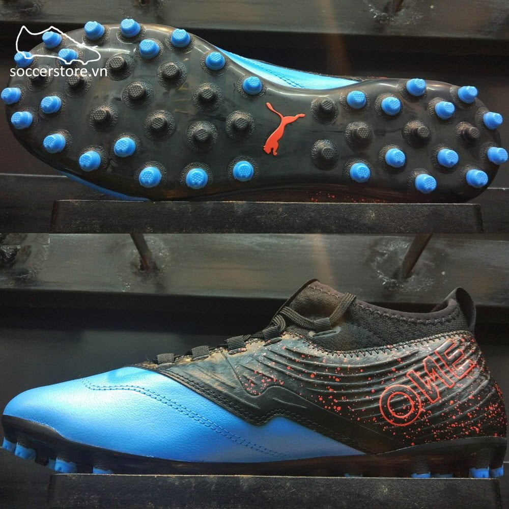 Puma One 19.3 MG- Blue Azur/ Red Blast/ Black 105614-01