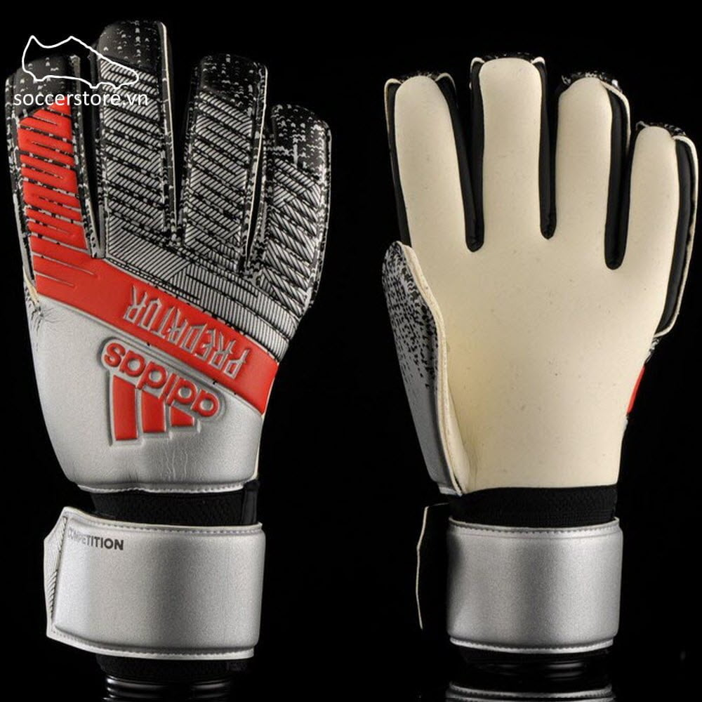 Adidas Predator Competition- Silver Metallic/ Black GK Gloves DY2603