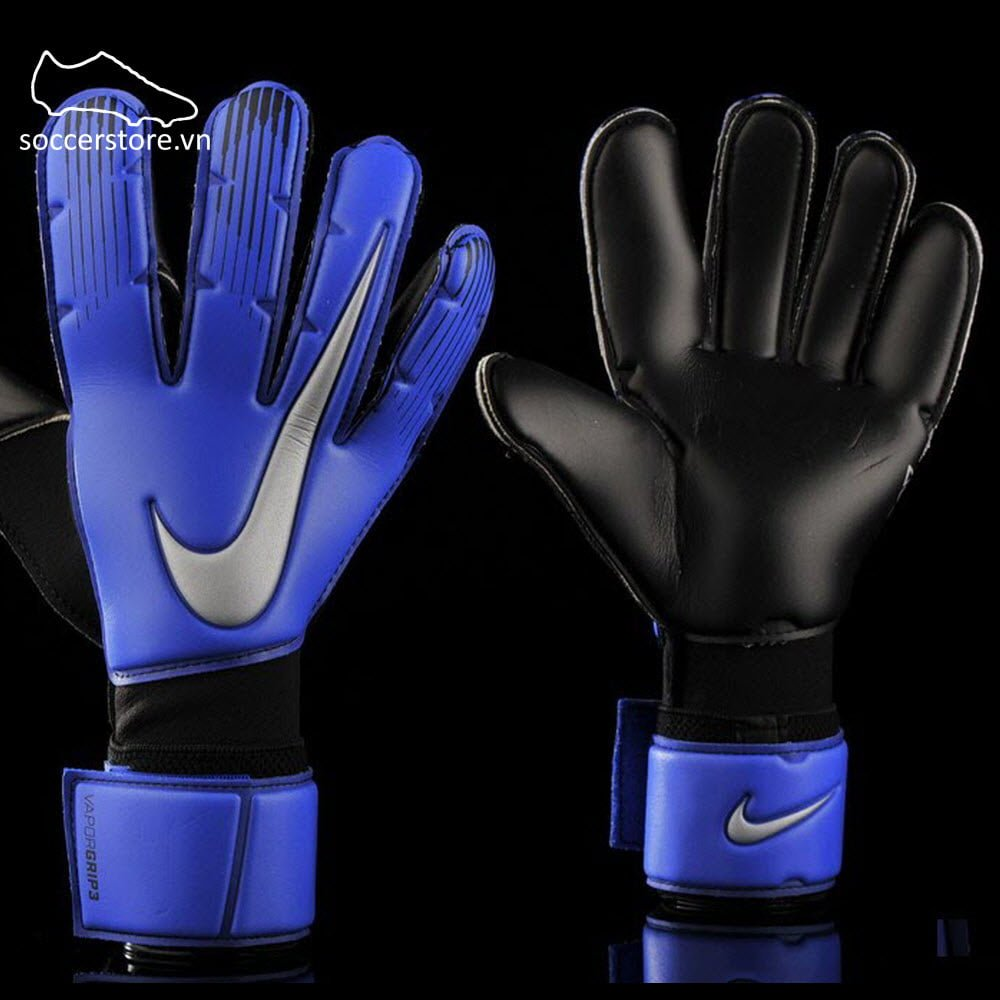 Nike Vapor Grip 3- Racer Blue/ Black/ Metallic Silver GK Gloves GS0352-410