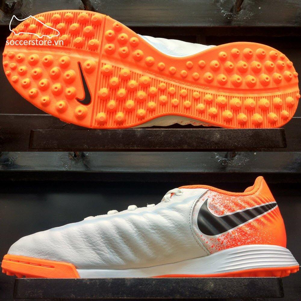 Nike Tiempo Legend VII Academ y Kids TF - White/ Black/ Hyper Crimson AH7259-118