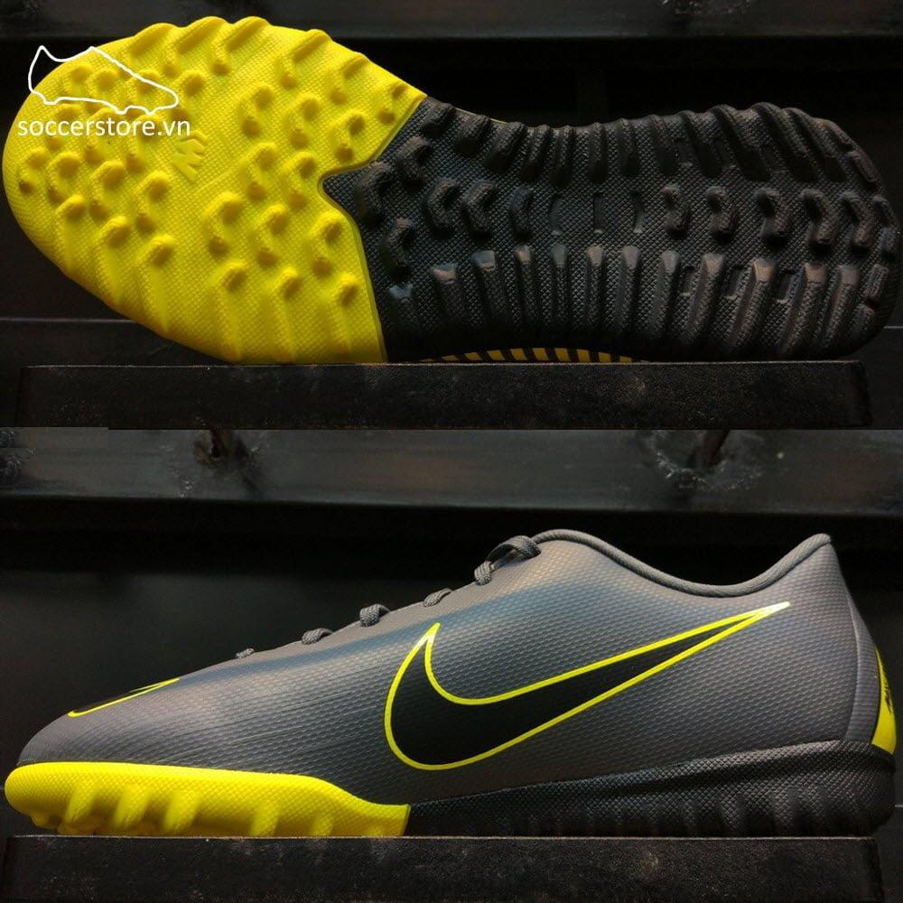 Nike Mercurial Vapor XII Academy Kids TF – Dark Grey/ Black/ Yellow AH7342-070