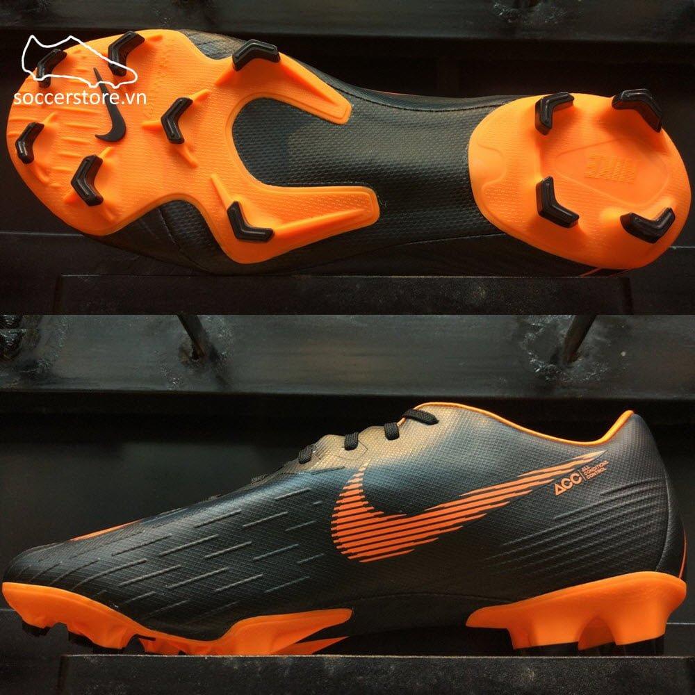 Nike Mercurial Vapor Fury XII Pro FG- Black/ Total Orange/ White AH7382-081