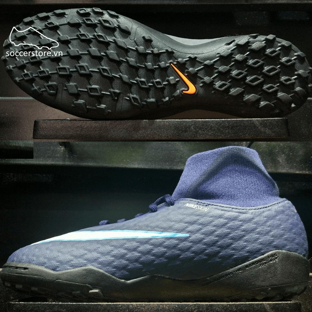 Nike Hypervenom Phelon III DF Kids TF- Obsidian/ White/ Gamma Blue 917775-414