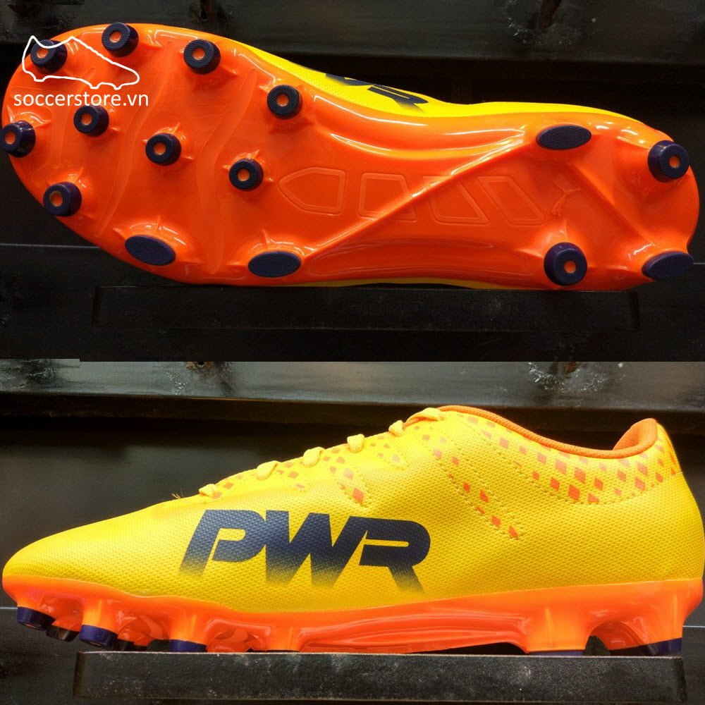 Puma evoPOWER Vigor 4 AG - Ultra Yellow/ Peacoat/ Orange Clown Fish 103964-03