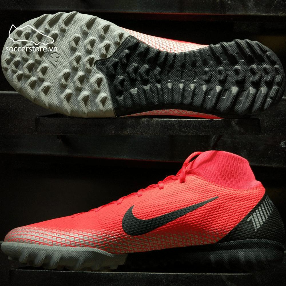 Nike Mercurial Superfly VI Academy CR7 AJ3568-600- Bright Crimson/ Black/ Chrome/ Dark Grey