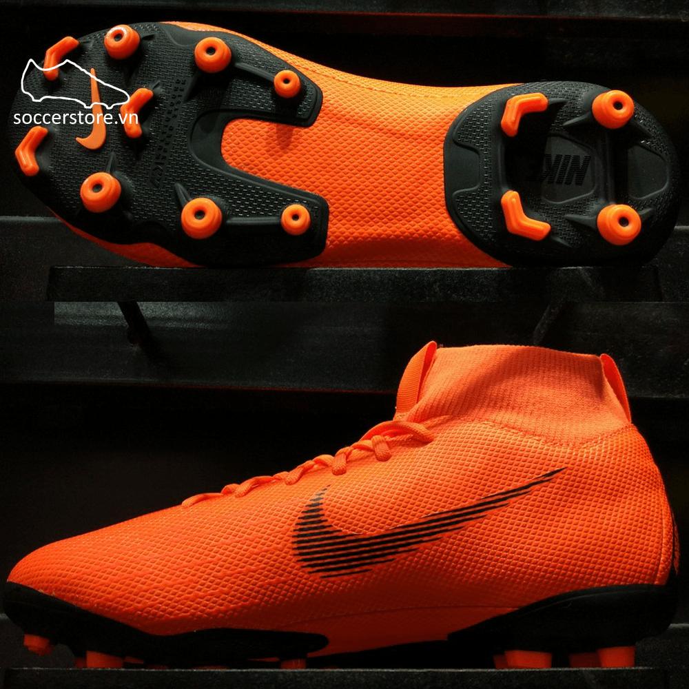 Nike Mercurial Superfly VI Academy Kids FG/MG- Total Orange/ Black/ Volt AH7337-810