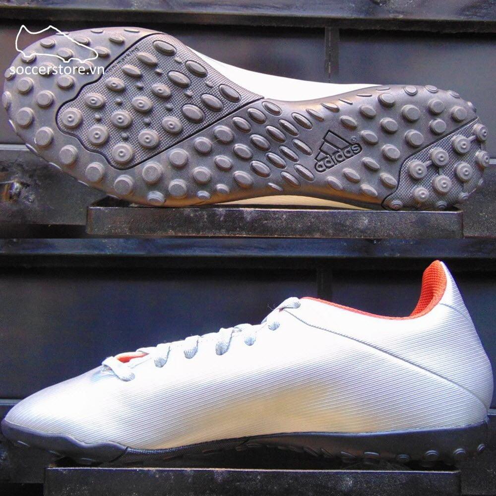 Adidas X 19.4 TF- Silver Metallic/ Hi-Res Red/ White F35344
