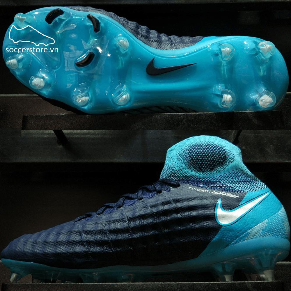 Nike Magista Obra II Kids FG- Obsidian/ White/ Gamma Blue 844410-414