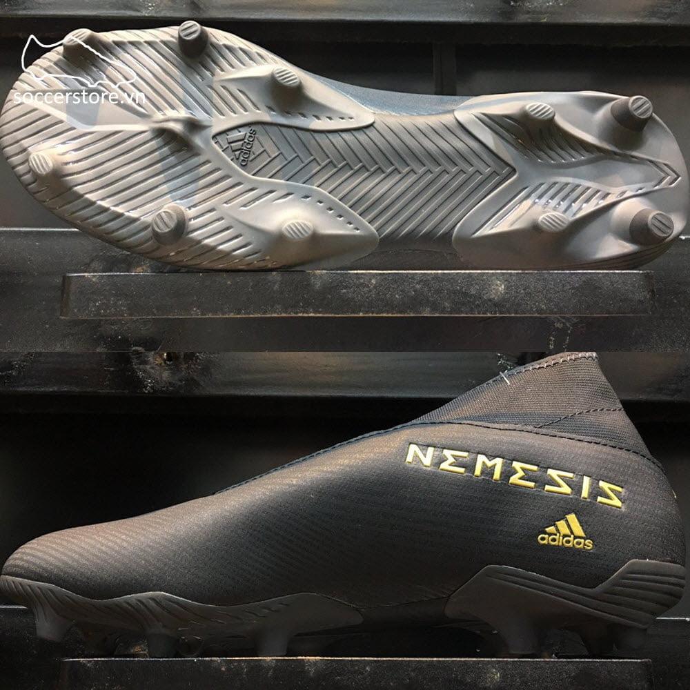 Adidas Nemeziz 19.3 Laceless FG - Core Black/ GoldEF0371