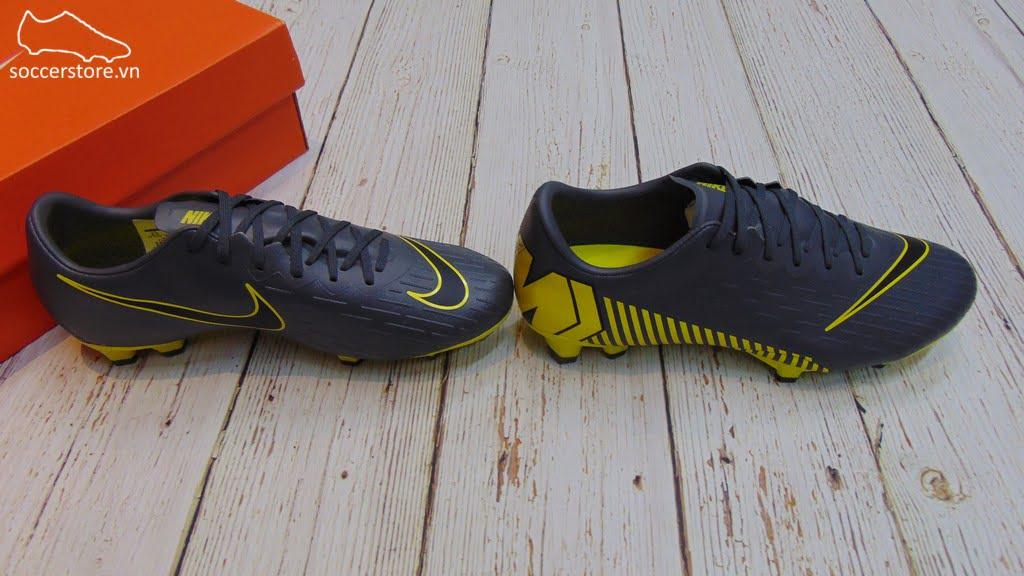 Nike Mercurial Vapor XII Pro FG- Dark/ Grey/ Black- AH7382-070