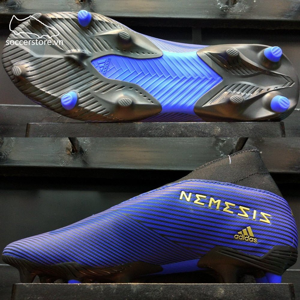 Adidas Nemeziz 19.3 Laceless FG- Blue/ Gold/ Core Black EF0373
