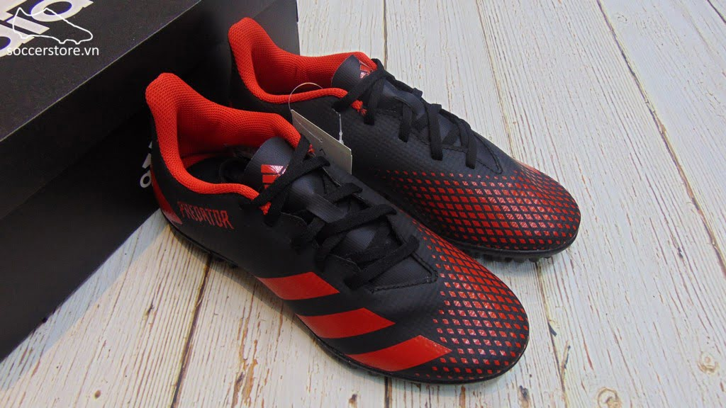 Adidas Predator 20.4 TF - Core Black/ Active Red EE9585