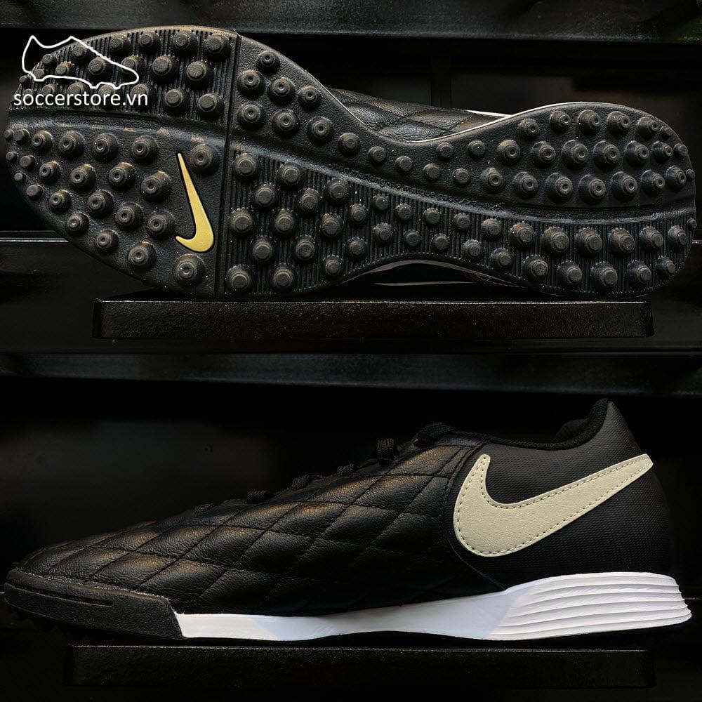 Nike Tiempo Legend VII Academy 10R TF- Black/ Brown/ Metallic Gold AQ2218-027