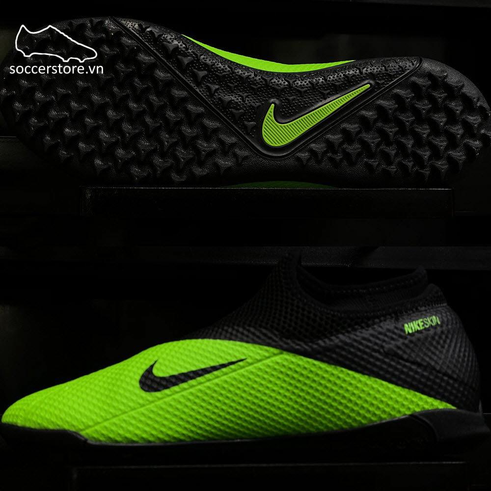 Nike Phantom VSN II Academy DF TF- Black/ Platinum/ Green Strike CD4172-306