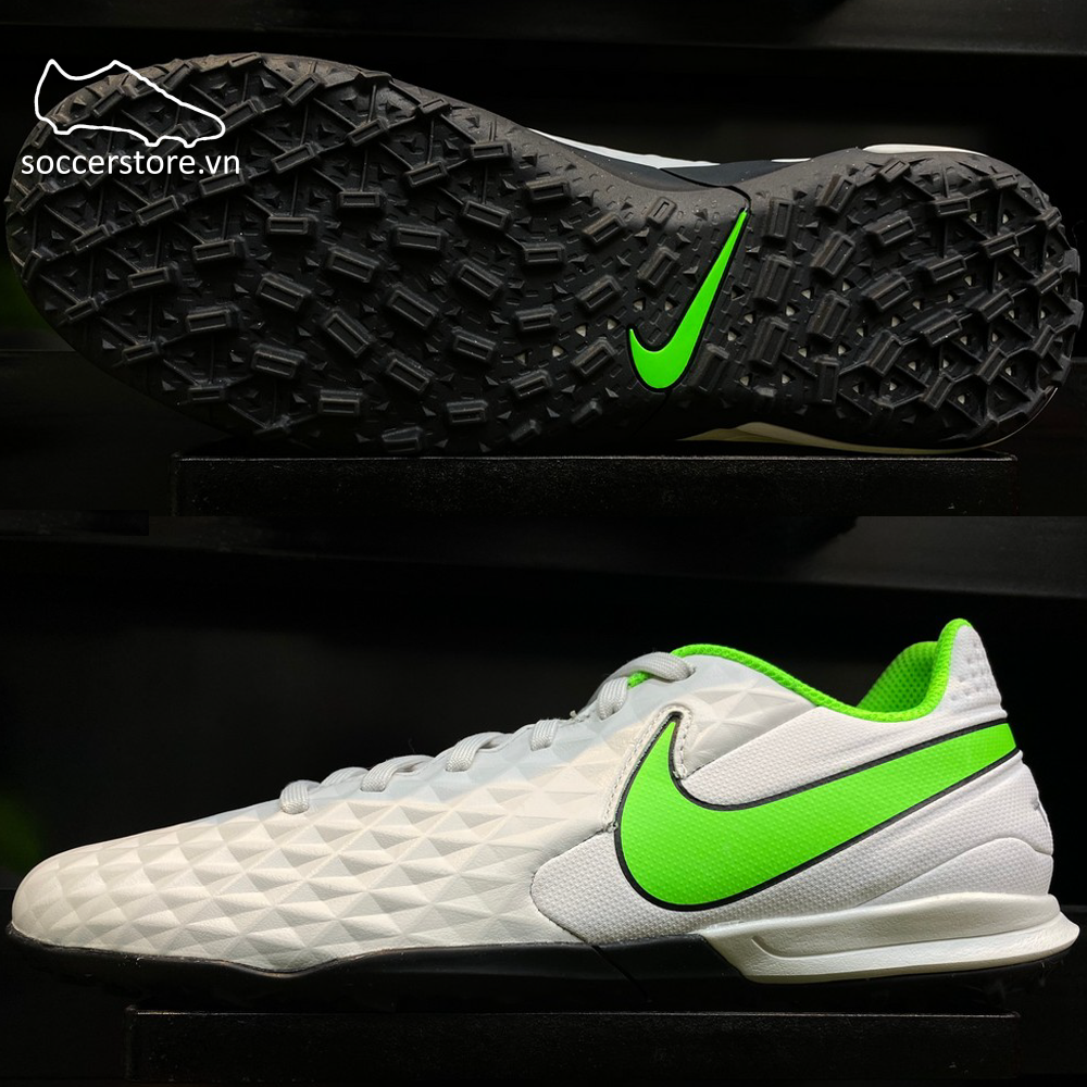 Nike Tiempo Legend 8 Academy TF Spectrum pack - Platinum Tint/ Rage Green AT6100-030