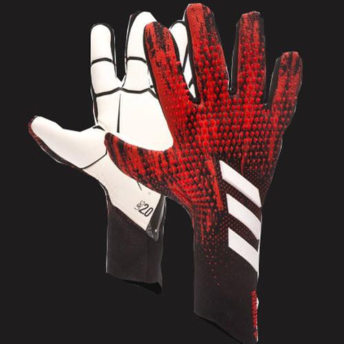 Găng tay thủ môn Adidas Predator 20 Pro - Black / Active Red FH7288 GK Gloves